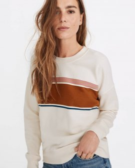 (Re)sourced Cotton Mainstay Sweatshirt in Kimball Stripe