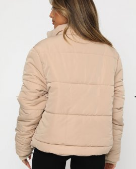 Not Giving In Puffer Jacket Sand