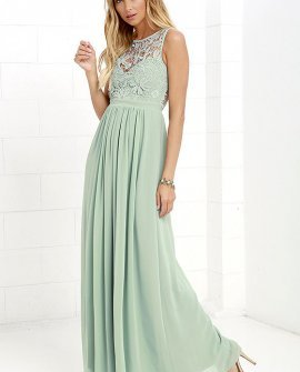 4f2a54ba299 Green Lace Dress - Maxi Dress - Backless Dress Price  68.00