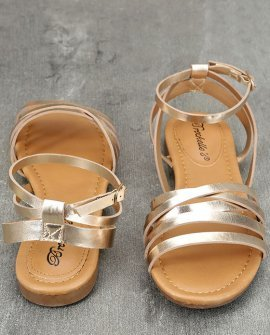 1f7a0d489cae4 Ankle Strap Flat - Strappy Sandals - Gold Sandals Price  19.00