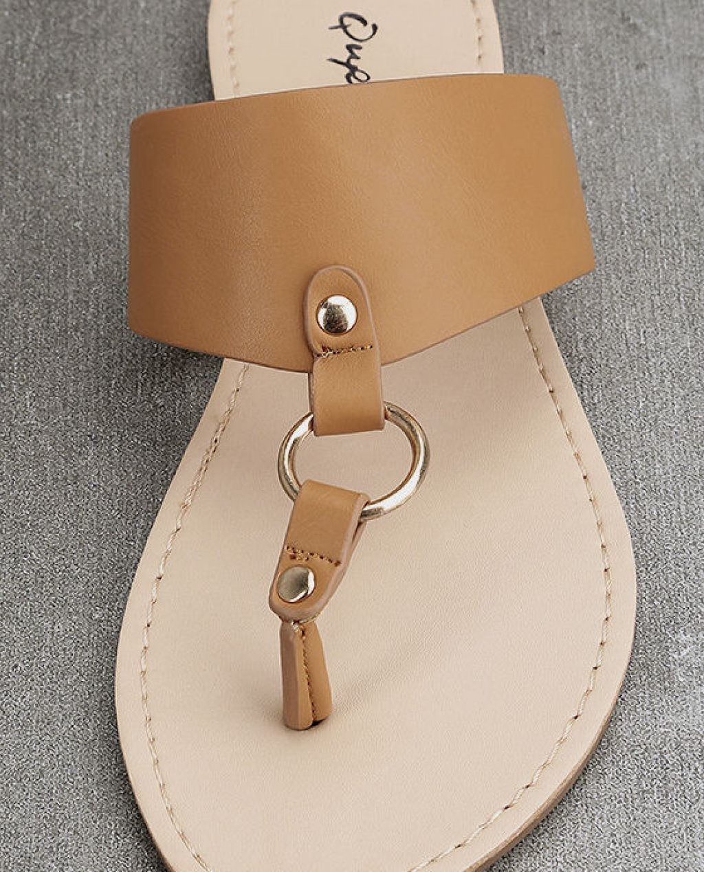 4e211e06ea35e8 Cute Thong Sandals - Camel Sandals - Flat Sandals Price  18.00