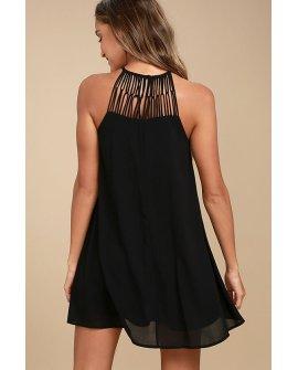 Tell Me Black Swing Dress