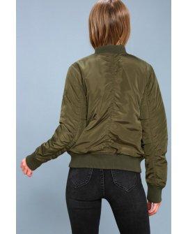 Air Force Hun Olive Green Bomber Jacket