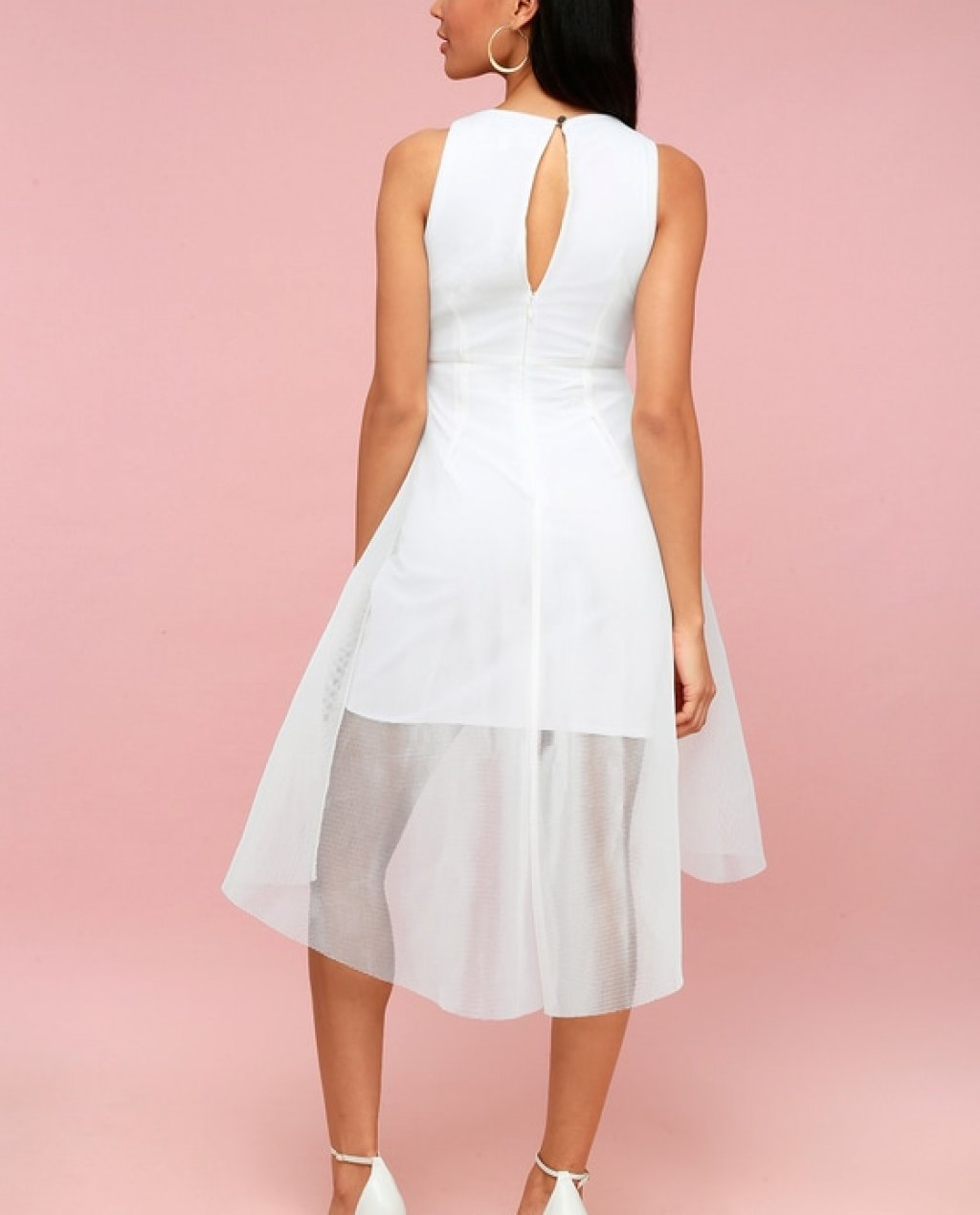 9caadeab8 White Mesh Dress - High low Elliatt Jewel Dress