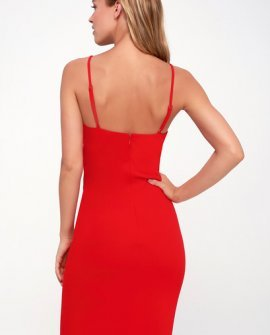 7879294a2ea3 Red Bodycon Dress - Sexy Red Dresses