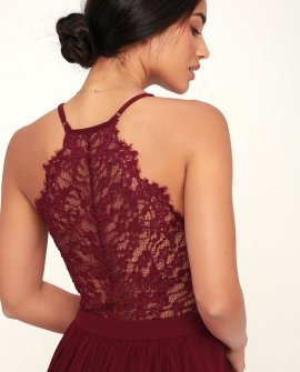 Love Spell Burgundy Lace Back Maxi Dress 25699 Burgundy1