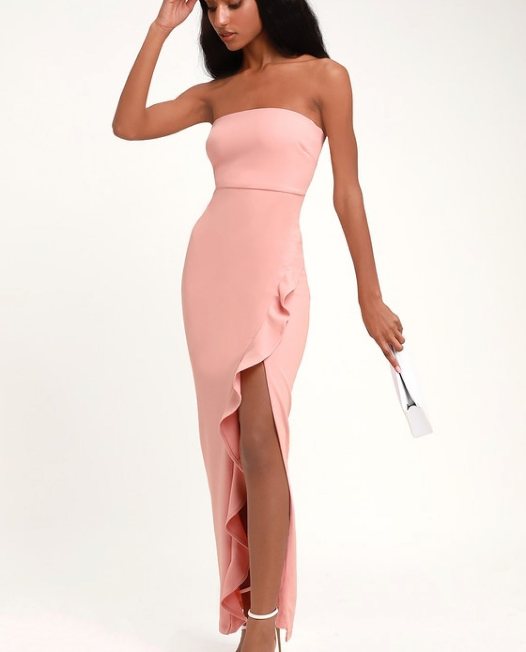 bc74bd7a6 After Hours Blush Pink Strapless Ruffled Maxi Dress- The Lulus After ...