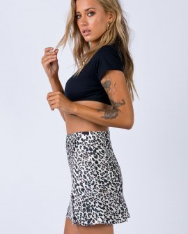 Yates Mini Skirt Leopard
