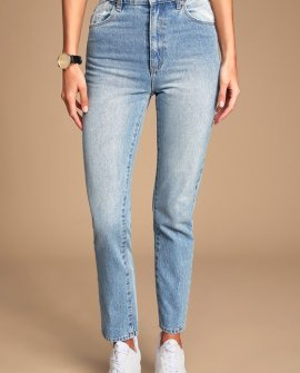 Dusters Light Blue High-Waisted Jeans
