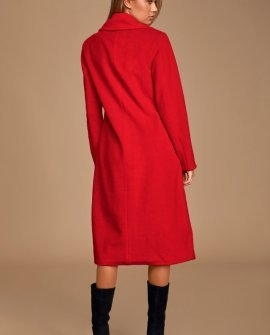New Chapter Red Brushed Wool Coat