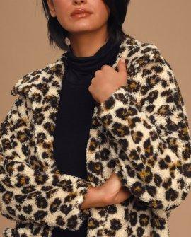 The Leopard Sherpa Teddy Bear Coat