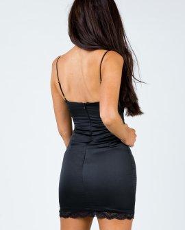 Maple Mae Black Mini Dress