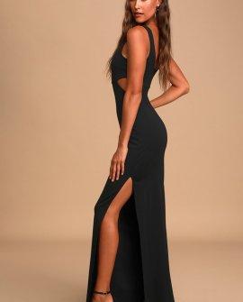 Tempting Fate Black Cutout Maxi Dress