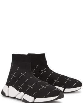 Balenciaga Speed 2.0 logo-print stretch-knit sneakers