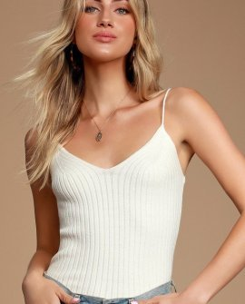 Abagale Off White Sweater Cami