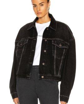 Acne Studios Oversized Denim Jacket in Black