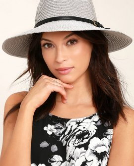 Adventure in Costa Rica Grey Straw Hat