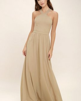 Air of Romance Nude Maxi Dress