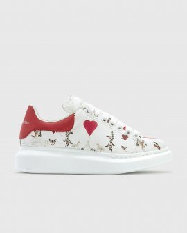 Alexander McQueen Oversized Sneakers With Heart Print