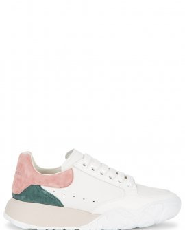 Alexander McQueen White panelled leather sneakers