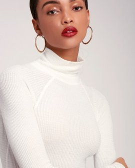 All You Want Ivory Thermal Turtleneck Bodysuit