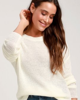 Alyssa Ivory Knit Sweater