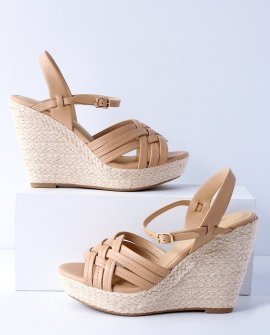 Amber Nude Espadrille Wedges