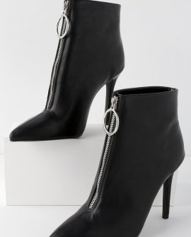 Andria Black Ankle Booties