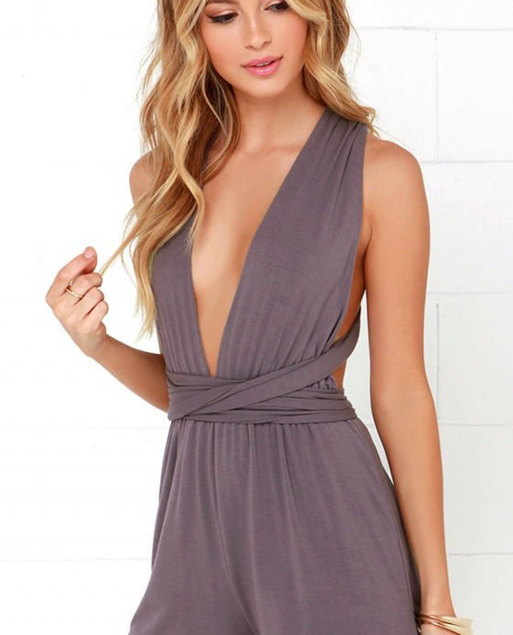 Any Way You Dusty Purple Romper