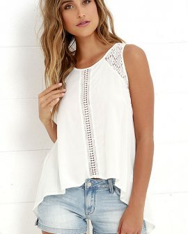 Anything is Possible Ivory Lace Top