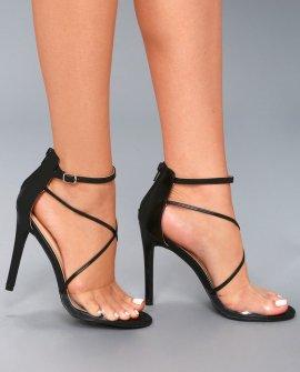 Arlo Black Ankle Strap Heels