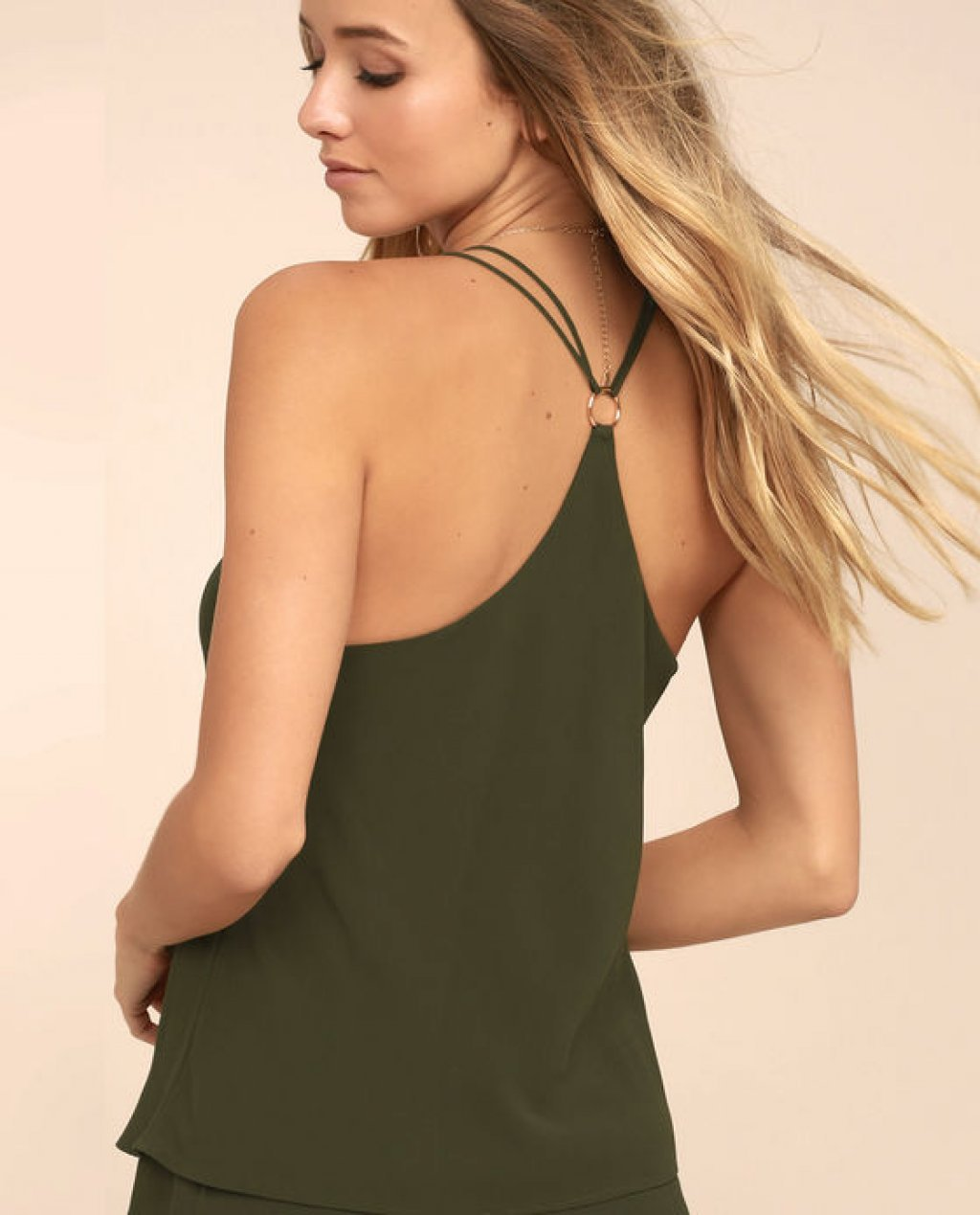 Around the Clock Olive Green Tank Top