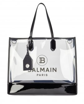 BALMAIN Medium Logo PVC Shopper