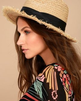 Bae Harbor Straw Fedora Hat