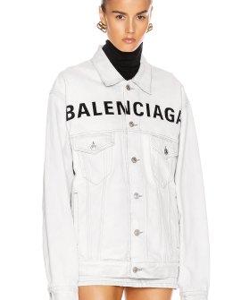Balenciaga Front Logo Denim Jacket