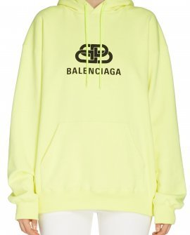 Balenciaga Interlocking BB Logo Neon Hoodie
