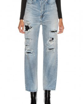 Balenciaga Ripped Regular Jean in Denim Light