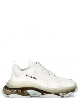 Balenciaga Triple S white mesh sneakers