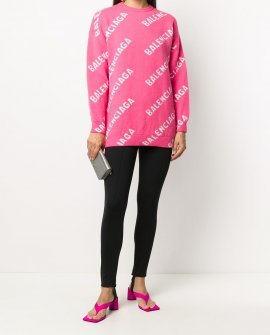 Balenciaga all-over logo-print jumper