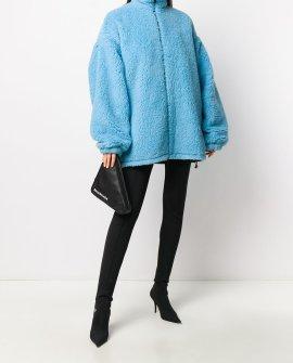 Balenciaga oversized fleece coat