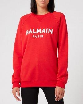 Balmain Women's Satin Logo Sweatshirt
