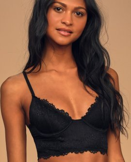 Best Kept Secret Black Lace Underwire Bralette