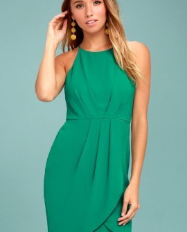 Best Wishes Teal Green Dress