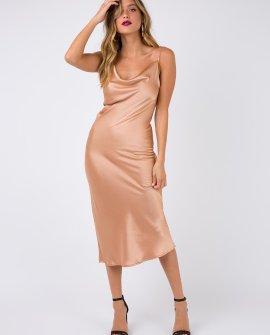 Betta Vanore Champagne Midi Dress