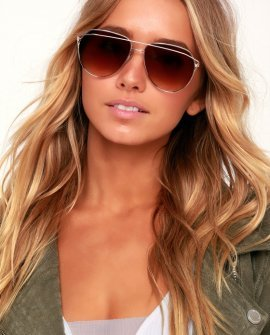 Bewildered Gold Aviator Sunglasses