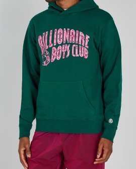 Billionaire Boys Club Dark green logo-print cotton sweatshirt
