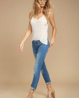 Blank NYC Skinny Classique Distressed Blue Skinny Jeans