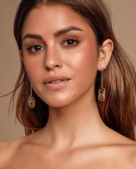 Bonet Gold Asymmetrical Earrings