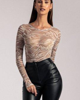 Bonnie Mesh Long Sleeve Bodysuit - Retrograde
