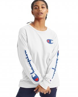 Boyfriend Long-Sleeve Tee, C Logo